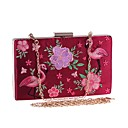 cheap Clutches & Evening Bags-Women's Bags Polyester / Alloy Evening Bag Embroidery Embroidery White / Black / Red