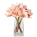 cheap Artificial Flower-Artificial Flowers 4 Branch Classic Stylish / European Orchids Tabletop Flower