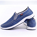 cheap Men's Slip-ons & Loafers-Men's Moccasin Canvas Spring Loafers & Slip-Ons Dark Blue / Light Blue