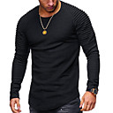 cheap Cell Phone Cases & Screen Protectors-Men's T-shirt - Solid Colored Round Neck / Long Sleeve