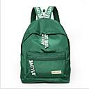 זול Intermediate School Bags-יוניסקס שקיות ניילון תיק לבית הספר רוכסן שחור / אודם / ורוד מסמיק