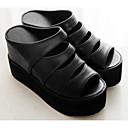 ieftine Sandale de Damă-Pentru femei Pantofi PU Vară Confortabili Sandale Creepers Alb / Negru