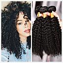baratos Um pacote de cabelo-4 pacotes Cabelo Mongol Kinky Curly 8A Cabelo Humano Peça para Cabeça Extensor Cabelo Bundle 8-28 polegada Preta Côr Natural Tramas de cabelo humano Clássico Natural Melhor qualidade Extensões de