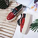 זול נעלי אוקספורד לנשים-בגדי ריקוד נשים עור נאפה Leather אביב קיץ נוחות נעלי אוקספורד מטפסים בוהן עגולה חום / אדום / חום בהיר