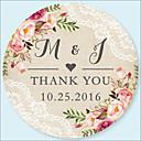 hesapli Çıkartmalar, Etiketler ve Tagler-Düğün Etiketler, Etiketleri ve Etiketler - 48 pcs Dairesel Çıkartmalar / Zarf Sticker Tüm Mevsimler