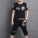 ieftine Pantaloni Băieți-Copii Băieți De Bază Imprimeu Manșon scurt Set Îmbrăcăminte