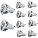 olcso LED Szpotlámpák-10pcs 5 W 400 lm GU10 LED szpotlámpák 3 LED gyöngyök Nagyteljesítményű LED Dekoratív Meleg fehér / Hideg fehér 85-265 V