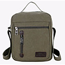 cheap Shoulder Bags-Men's Bags Canvas Shoulder Bag Zipper Military Green / Coffee / Khaki