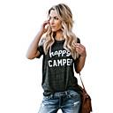 voordelige Haar Stukken-Dames Street chic T-shirt Katoen Letter Ruimvallend