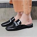 povoljno Ženske cipele bez vezica-Žene Cipele Mekana koža Ljeto Udobne cipele Klompe i natikače Ravna potpetica Zatvorena Toe Crn
