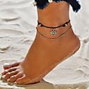 abordables Sandalias de Mujer-En Capas Pulsera de tobillo - Sol Vintage, Bohemio, Ocasional / deportivo Negro Para Calle / Noche / Mujer