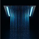 abordables Grifos de Cocina-Moderno Ducha lluvia Cromo Característica - LED / Ducha, Alcachofa de la ducha