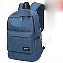 ieftine High School Bags-Unisex Genți Nailon Geantă Școală Fermoar Albastru piscină / Negru / Gri Deschis