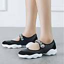 cheap Women's Boots-Women's Shoes Nappa Leather Summer Comfort Sneakers Flat Heel Round Toe White / Black