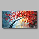 abordables Cuadros de Flores/Botánica-Pintura al óleo pintada a colgar Pintada a mano - Abstracto Contemporáneo / Modern Lona