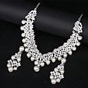 preiswerte Schmuck Sets-Damen Synthetischer Diamant Mehrschichtig Schmuck-Set - Liebe Elegant Einschließen Perlenkette Silber Für Hochzeit Party