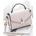 povoljno Torbe preko ramena-Žene Torbe PU Torba za rame Perlica / Patent-zatvarač Blushing Pink / Sive boje / Žutomrk