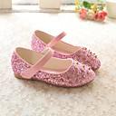 זול נעלי ילדות-בנות נעליים PU קיץ & אביב נוחות שטוחות נצנצים / ניטים ל ילדים זהב / כסף / ורוד