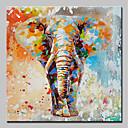 povoljno Slike sa životinjskim motivima-Hang oslikana uljanim bojama Ručno oslikana - Crtani film Pop art Moderna Uključi Unutarnji okvir / Prošireni platno