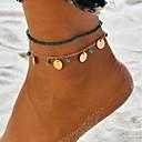 preiswerte Körperschmuck-Klassisch Glasperlen Knöchel-Armband - Gold / Silber Für Geschenk Alltag Damen