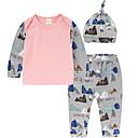 ieftine Set Îmbrăcăminte Băieți Bebeluși-Bebelus Băieți Activ Peteci Imprimeu Manșon Lung Bumbac Set Îmbrăcăminte / Copil