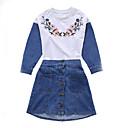 זול סטים של ביגוד לבנות-סט של בגדים שרוול ארוך אחיד בנות ילדים