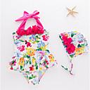 tanie Zestawy ubrań dla dziewczynek-Dzieci / Brzdąc Dla dziewczynek Kwiaty Odzież kąpielowa