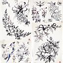 billige Syntetiske parykker uden hætte-5 pcs Midlertidige Tatoveringer Blomster Serier / Romantisk Serie Glat klistermærke / Sikkerhed Kropskunst Krop / arm / skulder / Decal-stil midlertidige tatoveringer