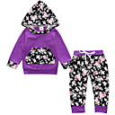 זול אוברולים טריים לתינוקות-סט של בגדים שרוול ארוך פרחוני בנות תִינוֹק