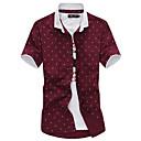 رخيصةأون أساور الرجال-للرجال قميص حزب / عمل ياقة كلاسيكية / كم قصير
