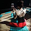 olcso Futóruházat-Női Mély-V Open Back Yoga Top Fekete Szürke Piros Sport Tömör szín Atléta Zumba Futás Fitnesz Sportruházat Légáteresztő Gyors szárítás Upijanje znoja Nagy rugalmasságú