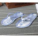 abordables Chanclas yPantuflas de Mujer-Mujer Zapatos PVC Primavera verano Confort / Zapato transparente Zapatillas y flip-flops Tacón Plano Puntera abierta Cristal Negro / Verde / Rosa