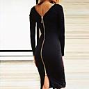 tanie Buty do latino-Damskie Bawełna Rurki Spodnie - Solidne kolory Odkryte plecy Czarny / Dekolt w kształcie litery U / Święto / Kij / Super seksowny