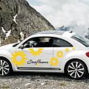 povoljno Ukrasi i zaštita automobila-Bijela Naljepnice za auto Crtići Vrata za vrata Biljke Naljepnice