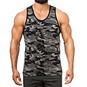 cheap Men's Athletic Shoes-Men's Basic Cotton Tank Top - Color Block Print / Sleeveless