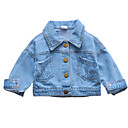 ieftine Îmbrăcăminte Bebeluși-Bebelus Fete Activ Mată Manșon scurt Regular Bumbac / In / Fibră de Bambus Jachetă & Haină Albastru piscină / Copil