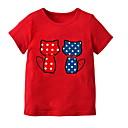 זול חולצות לבנות-טישירט שרוולים קצרים אחיד בנות פעוטות