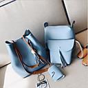 baratos Conjunto de Bolsas-Mulheres Bolsas PU Conjuntos de saco Conjunto de bolsa de 4 pcs Ziper Marron / Cinzento Escuro / Azul Céu