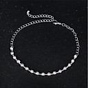 cheap Anklet-Tennis Chain Ankle Bracelet - Romantic Gold / Silver For Date Club Women's