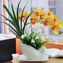 ieftine Flori Artificiale-Flori artificiale 1 ramură Clasic / Single Rustic Orhidee Față de masă flori