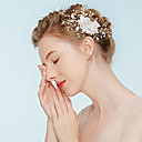povoljno Party pokrivala za glavu-Legura Kose za kosu s Umjetni biser / Cvjetni print 1pc Vjenčanje / Zabava / večer Glava