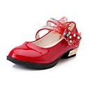 זול נעלי ילדות-בנות נעליים PU קיץ & אביב נוחות שטוחות הליכה אבזם ל ילדים שחור / אדום / ורוד