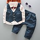 ieftine Pantaloni Băieți-Bebelus Băieți Activ / De Bază Zilnic / Ieșire Carouri Imprimeu Manșon Lung Regular Regular Bumbac Set Îmbrăcăminte Albastru piscină 110 / Copil