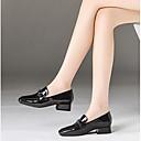 זול נעלי עקב לנשים-בגדי ריקוד נשים נעליים סוויד אביב נוחות עקבים עקב עבה שחור / אדום