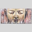 ieftine Picturi în Ulei-Hang-pictate pictură în ulei Pictat manual - Religios Modern pânză