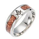 baratos Anéis para Homens-Homens Corrente Grossa Anel de banda - Aço Titânio Europeu Prata Para Diário