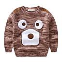 povoljno Džemperi i kardigani za dječake-Djeca Dječaci Osnovni Dnevno Kolaž Kolaž Dugih rukava Regularna Pamuk / Akril Džemper i kardigan Braon 100
