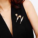 povoljno Moderni broševi-Žene Broševi Sa stilom Cvijet dame slatko Moda Elegantno Broš Jewelry Zlato Pink Za Dar Festival