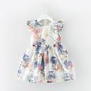 preiswerte Kleider für Mädchen-Kinder Mädchen Blumen Kurzarm Kleid