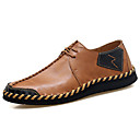 cheap Men's Oxfords-Men's Cowhide / Synthetics Spring & Summer Comfort Oxfords Black / Brown / Wine
